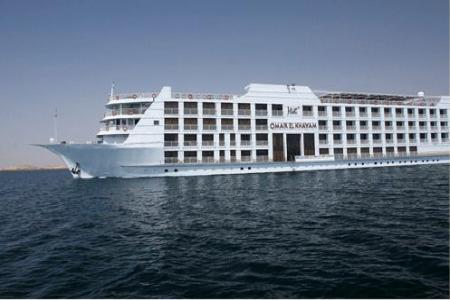 Crucero con motor Omar El Khayam 5 Stars Lago Nasser Barco Crucero