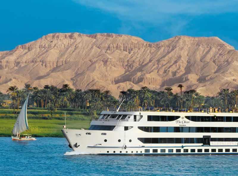 Оберой Захра 5 звезд роскошный круизный корабль Нил